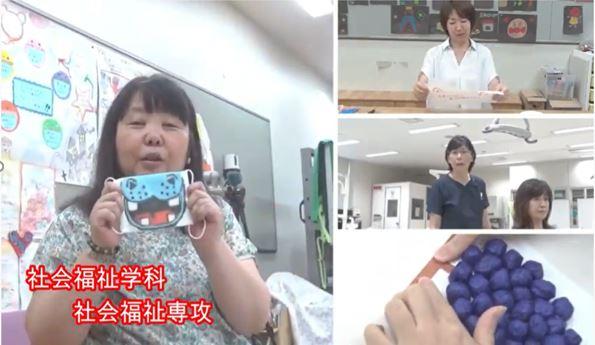 社会福祉専攻 松平千佳先生と、変身マスクを作ってみよう。